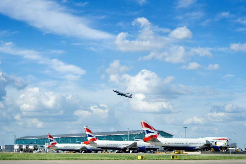 Heathrow planes parked