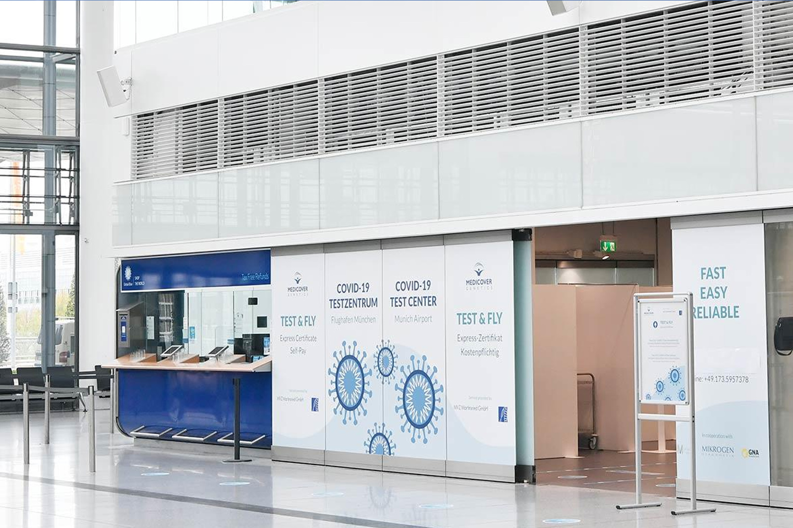 Fast Covid testing centre opens at Munich airport