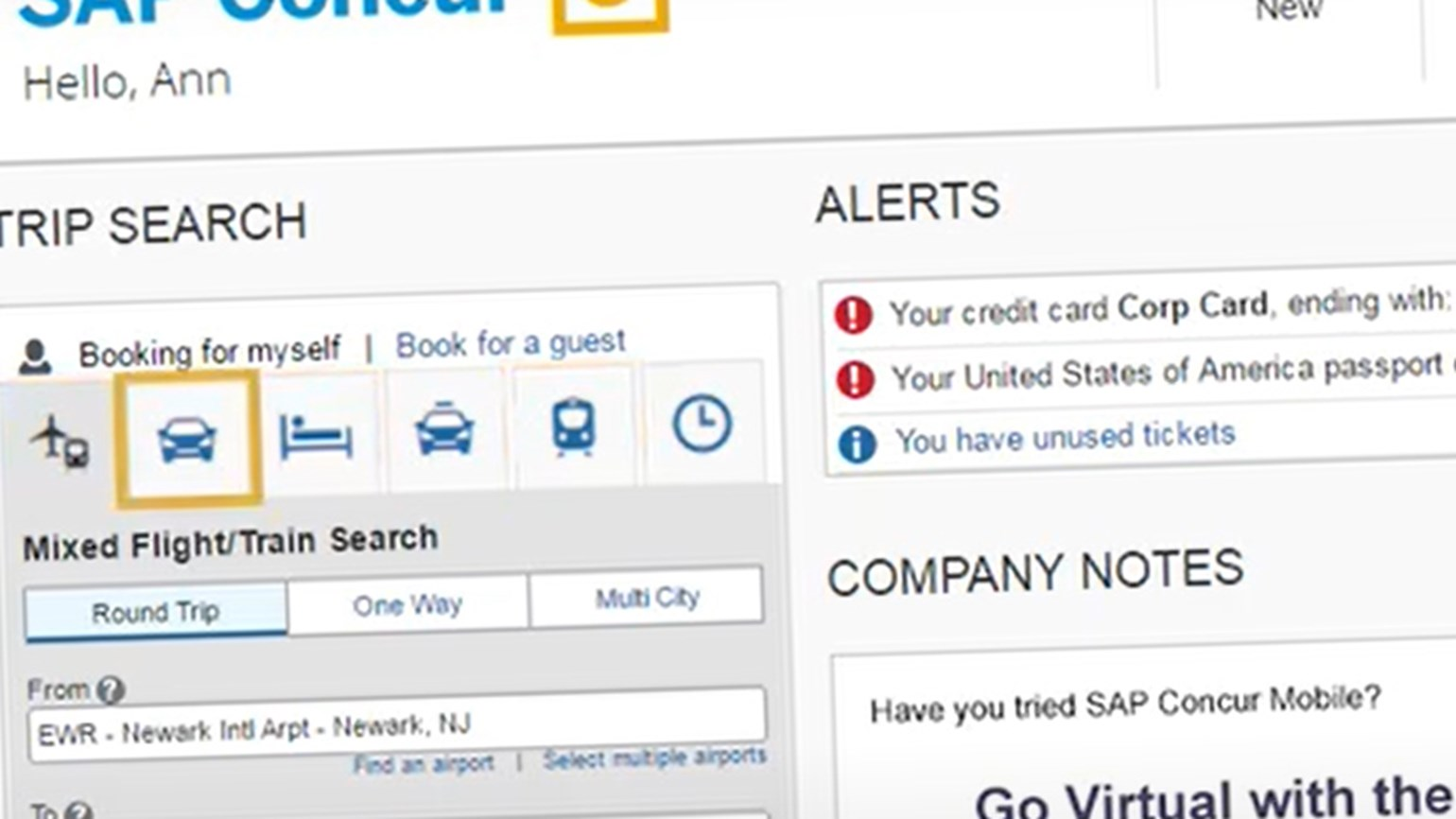 Amex GBT Supply MarketPlace now connected to Concur Travel