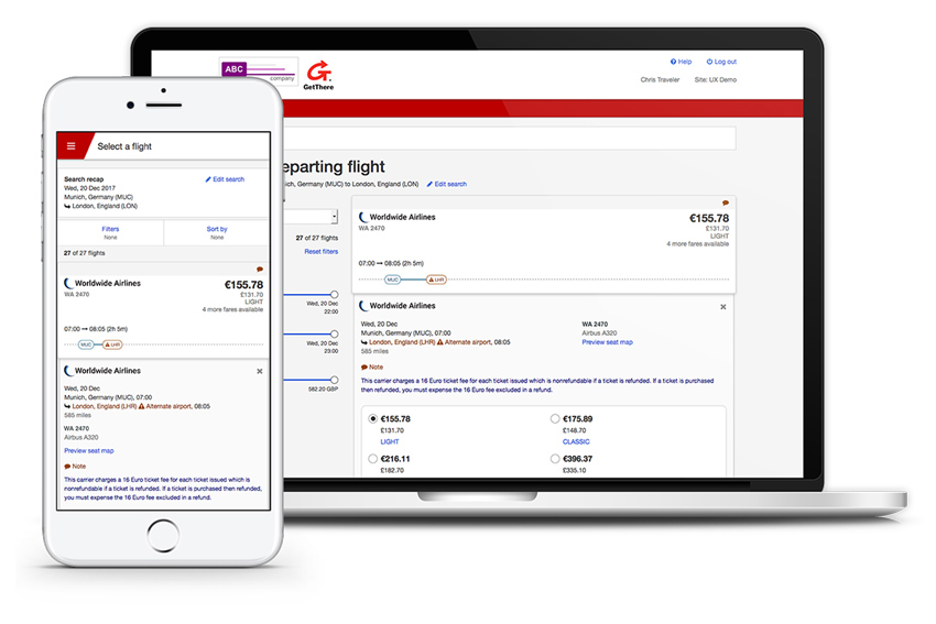 Sabre NDC content now bookable through GetThere