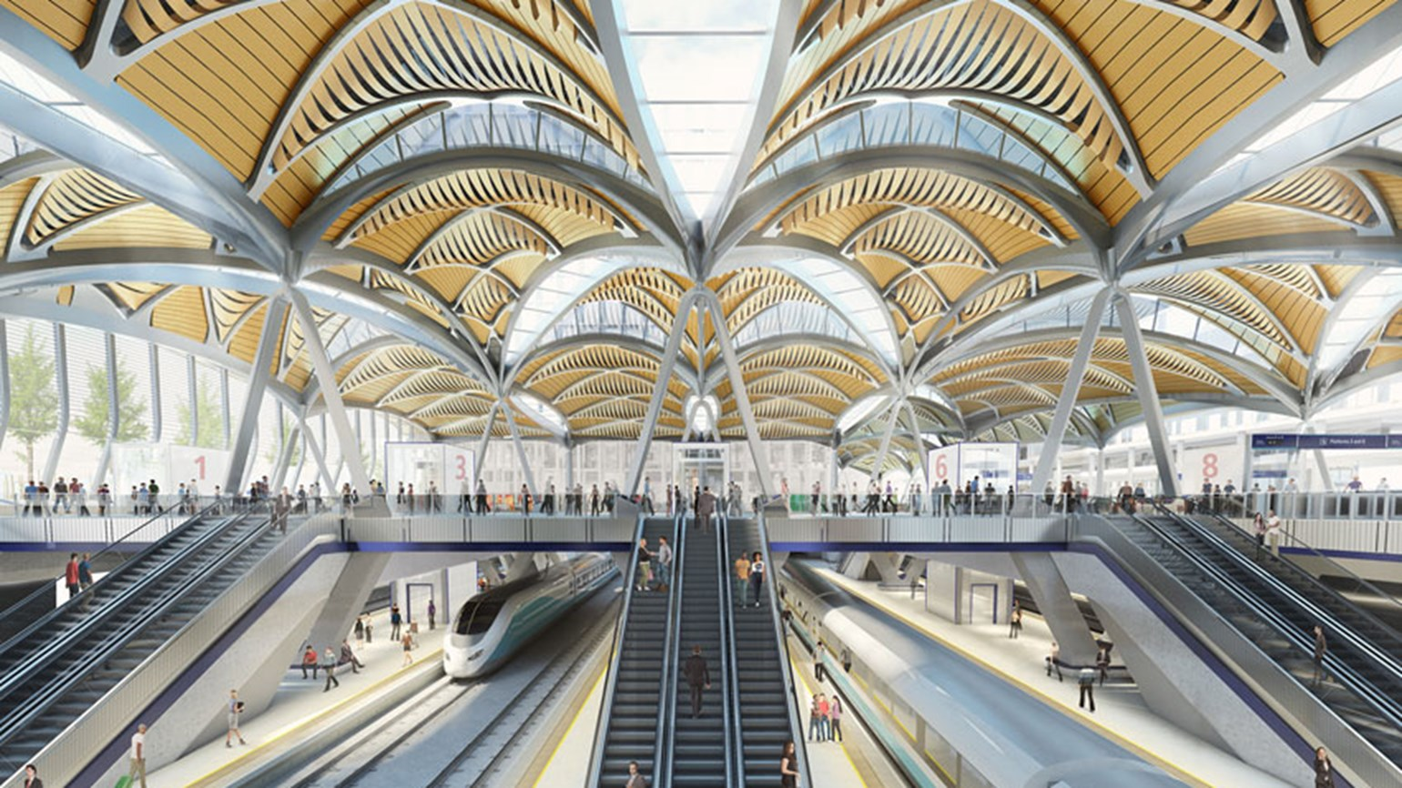 Artist impression of a new HS2 station