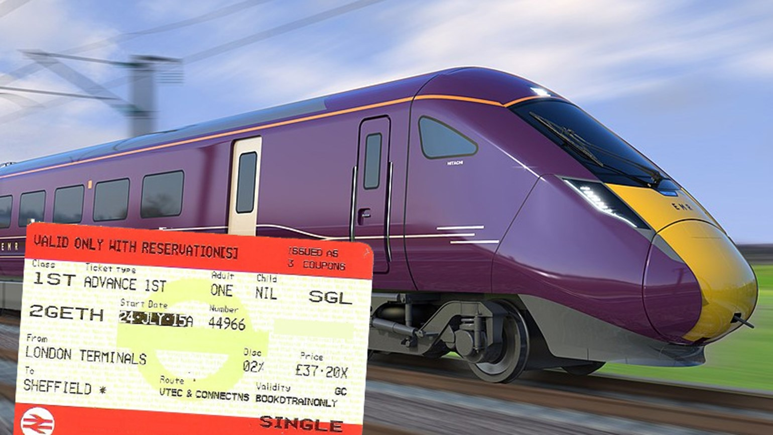 Government waives admin fees on changing UK advance rail tickets