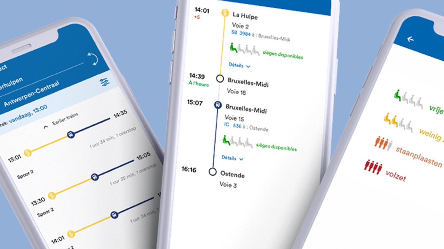 SNCB launches new app with train occupancy forecasts